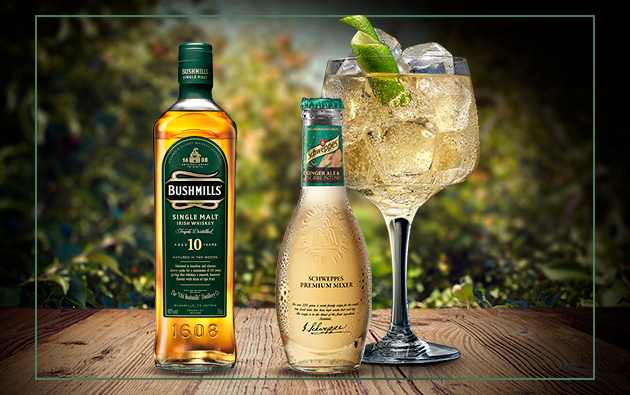 Whisky  Bushmills Malt con Schweppes Ginger Ale