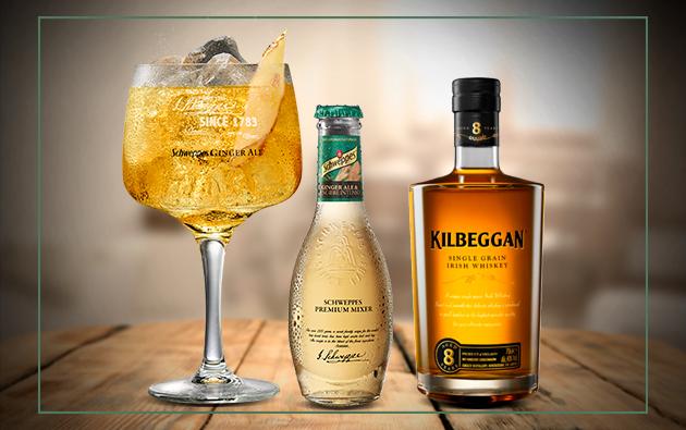 Kilbeggan Irish Whiskey con Schweppes Ginger Ale