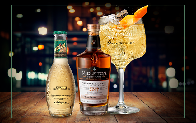 Whisky Midleton Very Rare con Ginger Ale Schweppes