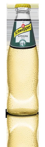 Ginger Ale Schweppes, refresco de jengibre original